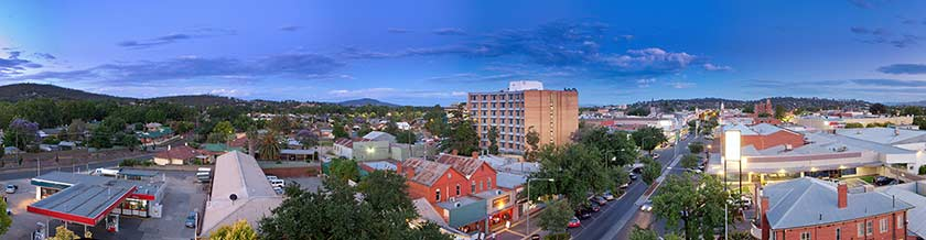 Panoramic view of Albury